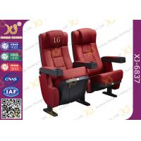 China Red Foldable Auditorium Theater Seating Chairs Used Movie Cinema Seats Fixed Backs on sale