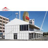 Quality A Shape Double Decker Tent Prefabricated House With Strong Galvanized Steel Pole for sale