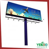 Best Outdoor advertising column steel structure billboard wholesale