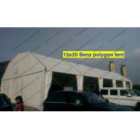 Quality Light Weight Cover Polygon Tent 15m x 20m White PVC Roof Mesh Window for sale