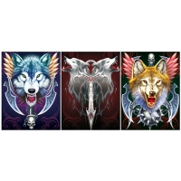 Quality Modern OEM 3D Animals Images , Custom Lenticular Printing Flip Effect for sale