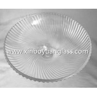 Quality Swirled Ribbed Glass Ceiling Light Cover Fixture Shade for sale