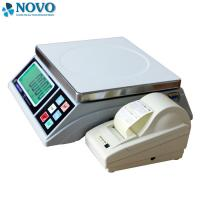 Quality White Digital Pricing Scale Large LCD Display Weigh Check Alarm Easy Counting for sale
