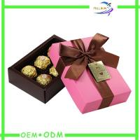 Best Ribbon Collapsible Chocolate Gift Boxes , rectangle chocolate packaging box wholesale