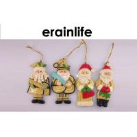 Quality Xmas Decorations Ideas / Polyresin Santa Claus Hanging Christmas Decorations for sale