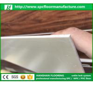 Quality Hanshan ECO waterproof 5.5mm click Vinyl plastic indoor WPC flooring with CE for sale