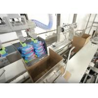 China High Speed Case Packer Machine For Bottles / Cans PLC Programmed Control Fully Automatic on sale