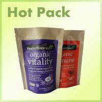 Quality Custom Printed Zipper Kraft Stand Up Pouches Organic Vitality Pack Eco Friendly for sale