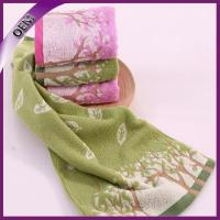 Quality 100 cotton bright color yarn dyed flower jacquard face towel wholesale for sale