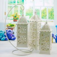 China Traditional Fall Decor Garden hurricane Candlestick Lantern Candle Holders on sale