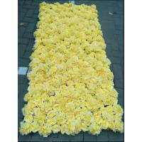 Quality UVG wedding decoration wholesale gridding artificial flower wall for stage backdrop decoration CHR1147 for sale