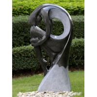 Hand Cast Large Outdoor Fountains , Statue Water Fountains For Backyard