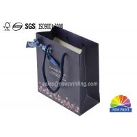 Best Premium Printed Ribbon Decorated Custom Designed Gift Paper Bags with Cotton Handle wholesale