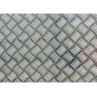 China Natural Color Patterned Aluminum Tread Plate Five Bars With 6 - 8mm Thickness on sale