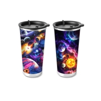 Quality Customized PP / PET 3D Lenticular Cup Printing 75ml - 1500ml Non-toxic for sale