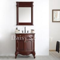 Buy cheap Daisy Classic style Bathroom Vanity Strong solid wood with marble top from wholesalers