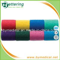 Quality 7.5cm Hand tearing Non Woven self adhering elastic bandage for sale