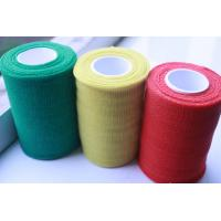 China Red / Yellow / Green Breathable Self - adherent Flexible Cohesive PBT Bandages on sale