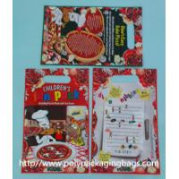Quality Red Plastic Toy Packaging Poly Bags / Custom Printed 3 Side Seal Bag for sale