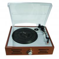 Quality 2015 NEW wooden retro 3 speed turntable player with two stereo speaker for sale