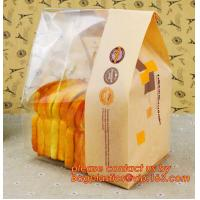 Quality Customize Translucent Window Brown Greaseproof Kraft Paper Bag Special Opp Window Shape, window bags, greaseproof paper for sale