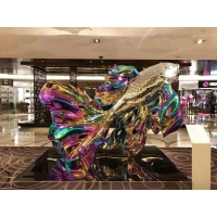 Quality Colorful painted stainless steel statue sculptures ,customized art statue,Stainless steel sculpture supplier for sale