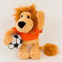 Quality Wild Lion with Football Plush Toy for sale