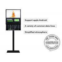 China 21.5 Inch Advertisement Mobile Phone Charging Kiosk Self Service Charging Station on sale