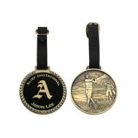 Quality Promotional Gift Metal Golf Bag Tag With Enamel Colored Corporate Or Sport Logo for sale