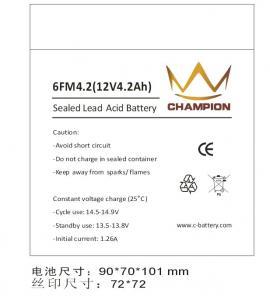 Quality 6FM4.2 12v 4.2ah SLA AGM Sealed Rechargeable Battery For UPS for sale