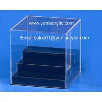 China Square Elegant Eco - Friendly Promotional Cutting Dustbin Acrylic Display Boxes For Office on sale