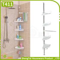 Best Household Supplier Multi Layer Save Space Stainless Steel Bathroom Telescopic Corner Shelf wholesale
