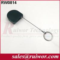 Quality 2.8x2.8x0.8Cm Box Ipad Retractable Security Cable With Demountable Key Ring for sale