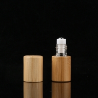 Quality PETG 15ml Bamboo Roller Bottle For Eye Serum Hot Stamped for sale