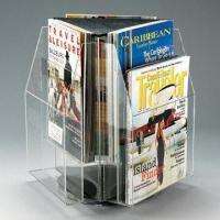 Buy cheap Acrylic Triangular Magazine Racks, Customized Sizes and Designs are Welcome  from wholesalers