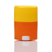 Buy cheap 30g 50g 75g Orange and Yellow Twist-up Solid Sticker Deodorant Bottles from wholesalers