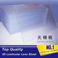 Quality OK3D high quality PS 40LPI board 120x240cm, 3.95mm lenticular sheet for 3d and flip lenticular effect by injekt print for sale