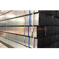 Quality Q235 / Q345 Pre Galvanized Steel Pipe , BS1387 Hollow Section Square Steel Tubing for sale