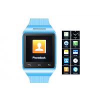 """Best 1.54"""" Blue GSM Mobile Watch Phone , Multi-languages Cell Phone Watch wholesale"""