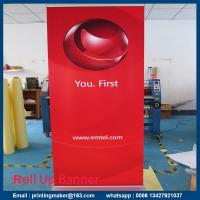 Buy cheap Retractable Standard Roll Up Banner Stand With Banner from wholesalers