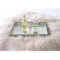 China Real Mongolian Tibet Lamb Fur  Pastel Pink Rug Plate Throw New Genuine Pink Wool on sale