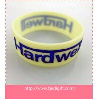 Custom Design Wide  Silicone Bracelet & Wristband with Debossed Color-Filled LOGO