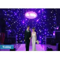 Quality 4X3M LED Curtain Lights Stage Drape Starry Party Backdrop Wedding Background for sale
