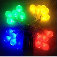 China party led crystal balls 10leds string light with battery power on sale