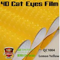 Quality 4D Cat Eyes Car Wrapping Vinyl Films - Lemon Yellow for sale