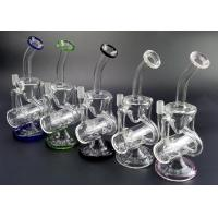 Clear Water Glass Water Bubblers Dab Rig Double Recycler Glass Bong 5MM Thickness