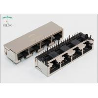 China 1 x 4 Four Ports Ganged Modular Jack RJ45 Connector For Network Repeater on sale