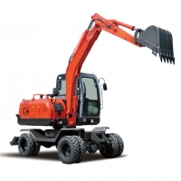 Quality 0.3m3 Bucket 6160mm Digging 6 Ton Wheel Excavator for sale