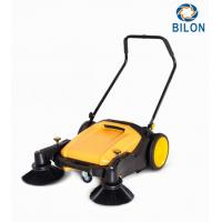 Quality Flexible Manual Walk Behind Street Sweeper Max Working Efficiency 3680m2/H for sale
