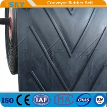 China Close-V Chevron Shape Herring-Bone Pattern Rubber Conveyor Belt for sale